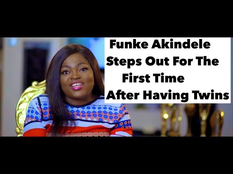 Funke Akindele Steps Out 1st Time After Having Twins & Storms Youtube