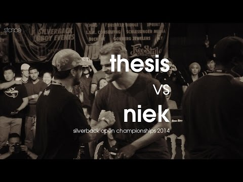 Niek - stance udeftour.org Thesis (USA) vs Niek (Netherlands) filmed by Daniel Zhu DJ BlesOne / DJ Fleg / Fox Boogie judges: Abstrak, Ken Swift, Tuff Kid, Wicked, ...