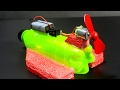 How to make an Electric Boat Very Easy  Making easy Toy waptubes