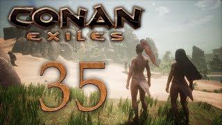 Conan Exiles — прохождение игры на русском — Первая вылазка в зимний биом [#35] | PC