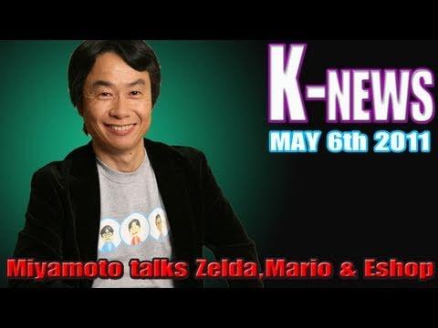 preview-K-News: Shigeru Miyamoto talks Zelda,Starfox and new details on Super Mario 3DS! (Kwings)