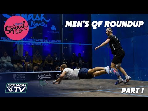 Squash: Open de France - Nantes 2019 - Men's QF Roundup Pt.1