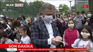 Sokağa Çıkan Çocuklara Maske Dağıtımı - Ülke Tv