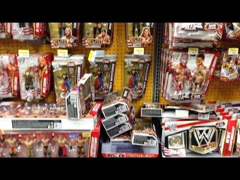 WWE ACTION INSIDER: Wrecking A LOADED Walmart wrestling figure aisle!! Throwing toys at display