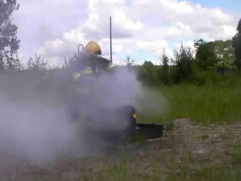 BacPac extinguishing 5 tyres chimney style: