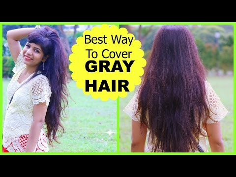 Best Way To Cover GRAY HAIR, How to Mix Henna Mehendi for Dark Hair Color Dye