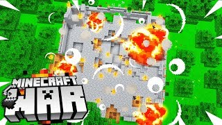 my Minecraft Base was BOOBY TRAPPED.. how did it happen? (Minecraft War #15)