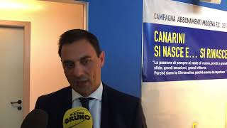 Modena FC - Campagna abbonamenti: responsabile marketing Simone Palmieri