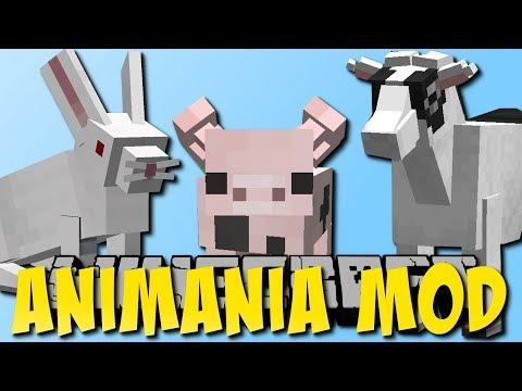 Minecraft Animania Mod 1.3 (Neue Hasen, Hamsterrad, Ziegen) (видео)