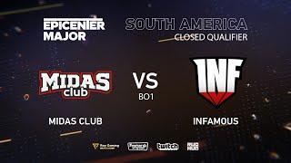 Infamous vs Midas Club, EPICENTER Major 2019 SA Closed Quals , bo1 [Eiritel]