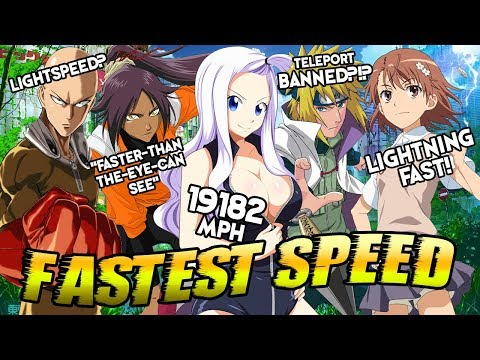 Ranking The Top 30 Fastest Anime Characters By Their Speed