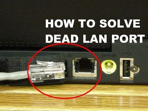 How to solve dead lan port connection by using USB 2.0 convert to Ethernet LAN adapter