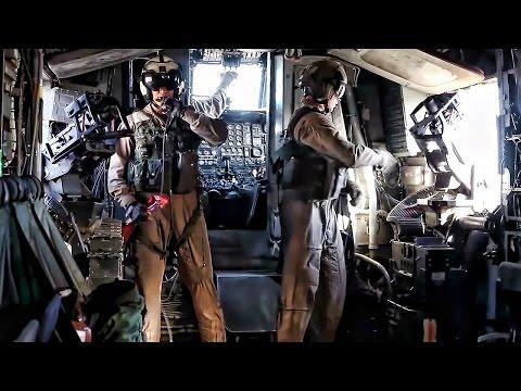 Inside A CH-53E Super Stallion During Assualt Support Tactics