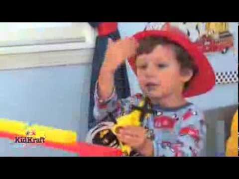Kidkraft kleuterbed brandweerauto
