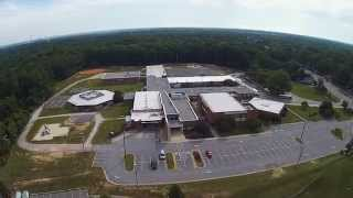Aerial drone view of Thomas Dale HS