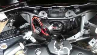 9. Installing hid kit on a 2011 Suzuki Hayabusa
