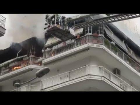Φωτιά σε διαμέρισμα πολυκατοικίας στο κέντρο της Θεσσαλονικης