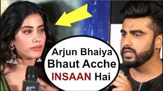 Video Jhanvi Kapoor's EMOTIONAL Reaction On Arjun Kapoor At Dhadak Movie Promotion MP3, 3GP, MP4, WEBM, AVI, FLV September 2018