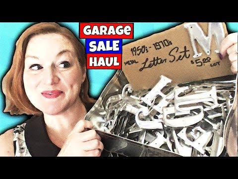 ATX Garage Sale Haul 2018 Estate Sale Jewelry & Collectibles Haul to Sell on Ebay & Etsy