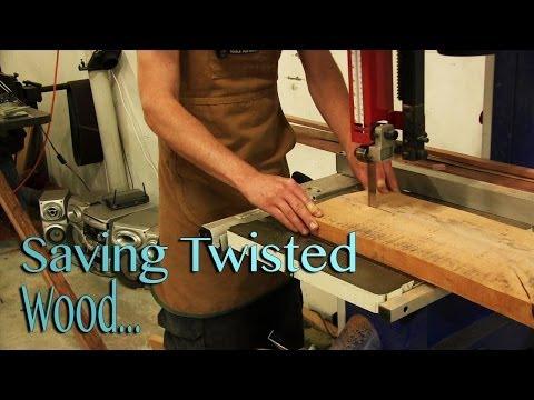 Saving Wood - Saving twisted and warped boards