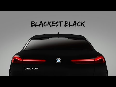 2020 BMW X6 - The Invisible BMW | Painted in Blackest Black | VantaBlack | BMW VBX6