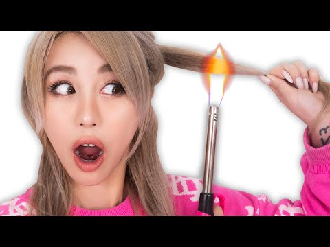 Testing Weird Hair Hacks From 5 Minute Crafts
