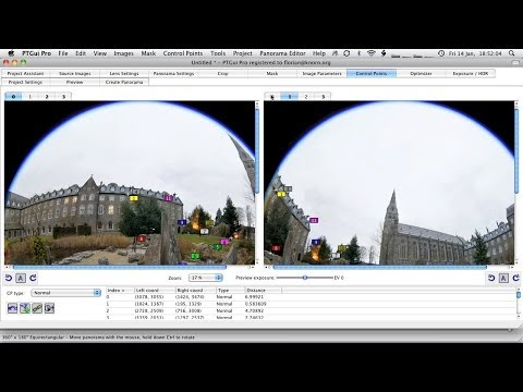 360×180° Panorama Tutorial – Pt.3: Stitching in PTGui (1)