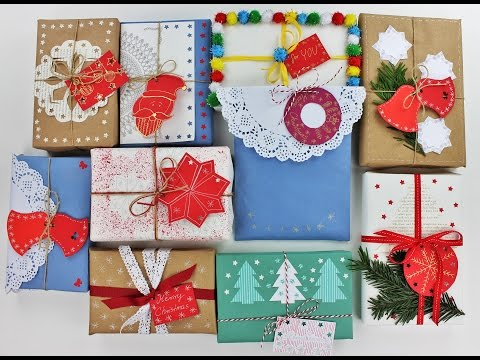 10 Creative Christmas Gift Wrapping Ideas - Wrapping gifts ideas - DIY - Do It Yourself