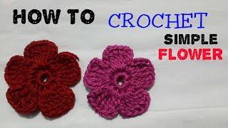 how to crochet flower ||cara merajut bentuk bunga