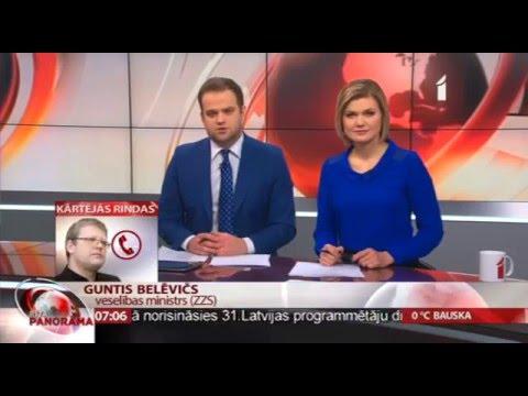 """Veselības ministra Dr. Gunta Belēviča telefonintervija LTV1 """"Rīta Panorāma"""""""