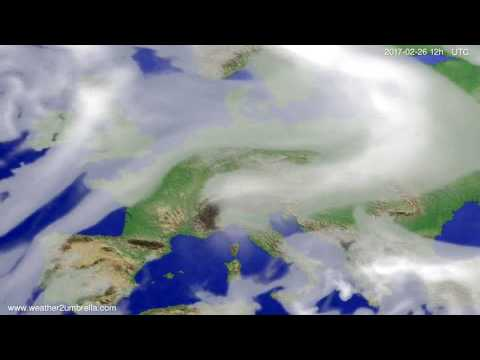 Cloud forecast Europe 2017-02-22