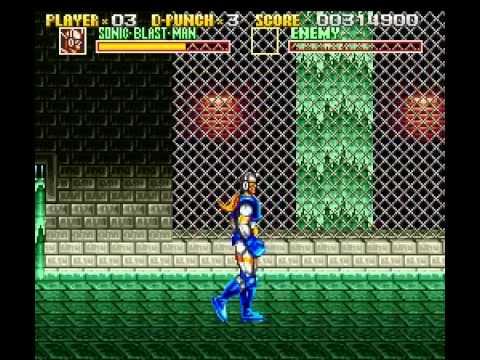 Sonic Blast Man Super Nintendo