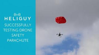 Heliguy successfully tests drone safety parachute