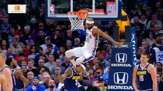 Corey Brewer Hits Torrey Craig in the Head - 76ers vs Nuggets | Jan 26, 2019 | 2018-19 NBA Season