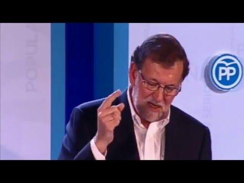 """Rajoy """"Lo que de verdad necesita España es un Gobierno en serio"""""""