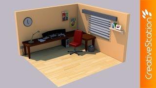Download Lagu Isometric Gaming Room  - 3D Speed art (#Cinema4D) | CreativeStation Mp3