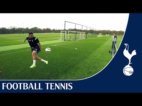 Video: Chadli & Bentaleb vs Townsend & Miles | Spurs Football Tennis