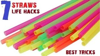 TOP 7 Creative life hacks with Drinking Straws