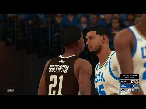 NBA 2K18 College First Four Game St Bonaventure Bonnies vs UCLA Bruins 03 13 2018