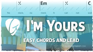 I'm Yours - Jason Mraz | Guitar Tutorial, Rhythm and Lead Walkthrough
