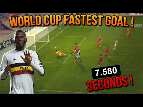 World Cup fastest goal - 7.5 Seconds by Benteke (Gibraltar VS Belgium) 10/10/2016 [HD]