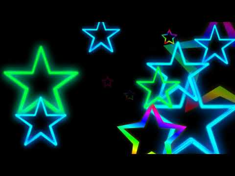 NEON STARS BLACK SCREEN EFFECT