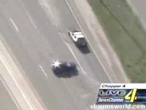 car chase with cops and stunt car driver