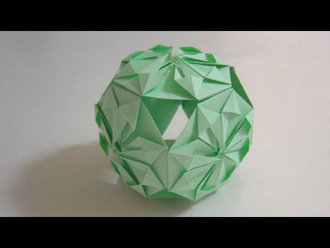 Kusudama Tutorial - 034 -- Traditional