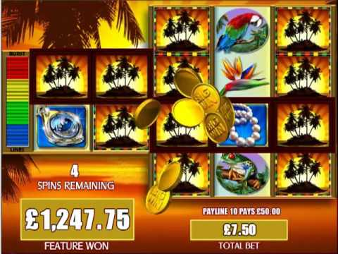£2886.00  MEGA WIN JACKPOT FORTUNES OF THE CARIBBEAN™ SLOT GAME AT JACKPOT PARTY®