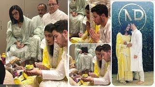 LIVE Priyanka Chopra & Nick Jonas WEDDING Engagement Ceremony Indian Style Inside House In Mumbai