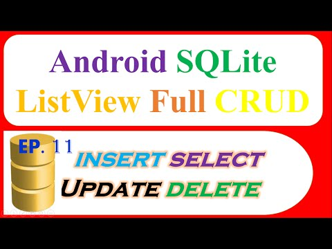 Android SQLite Full : ListView – INSERT,SELECT,UPDATE, DELETE with ContextMenu