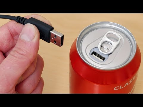 I Made A Coke Can USB Portable Power Bank - Phone Charger!