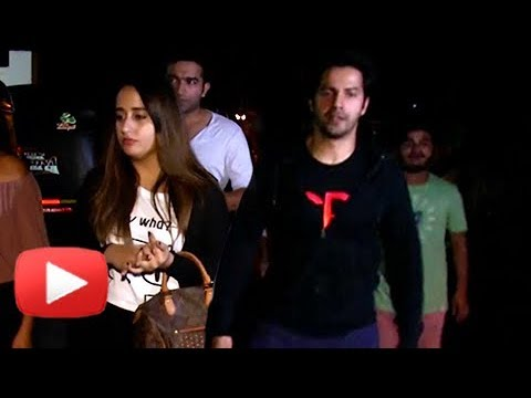 Varun Dhawan And Girlfriend Natasha Dalal At Speci