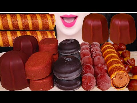 ASMR CHOCOLATE ICE CREAM, MARSHMALLOWS, DIPPIN' DOTS 초콜릿 아이스크림 먹방 EATING SOUNDS